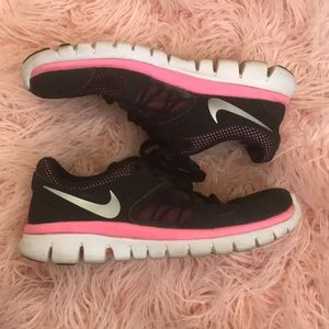 Black & Pink Nike Shoes